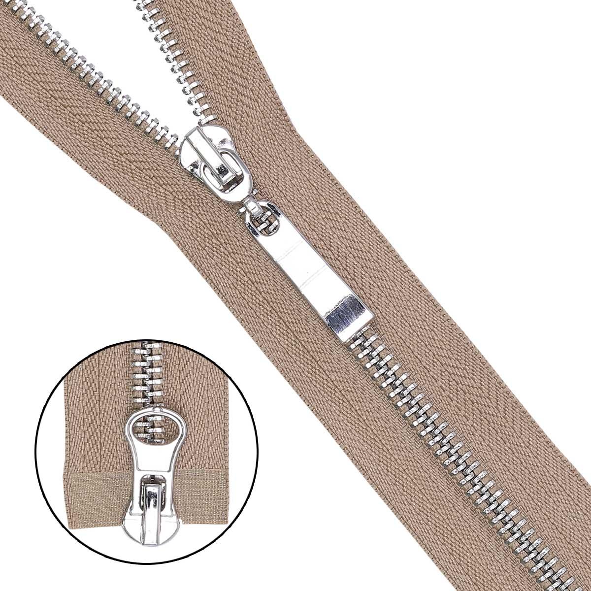 Молния металл-никель разъемная(2 зам.,Т5) - 80см