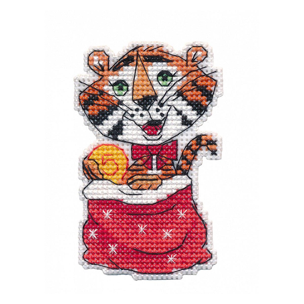 1435 Набор для вышивания ОВЕН 'Денежный тигр. Магнит' 5,5*8,8см