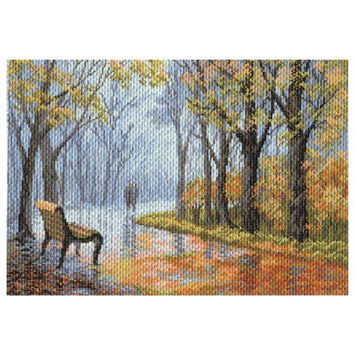 1654 Канва с рисунком 'Матренин Посад' 'В парке', 37*49 см