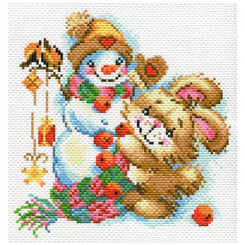 1779 Канва с рисунком Матренин посад 'Веселая зима' 23*28 см