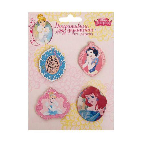 1144982 Набор декоративных элементов 'Верь в чудеса' Принцессы 4 шт