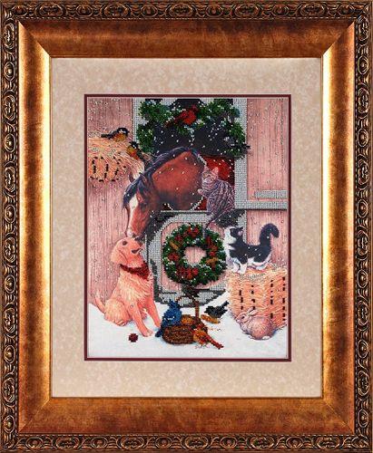 ВН1106 Набор для вышивания Alisena 'Новогодняя' 25*33 см