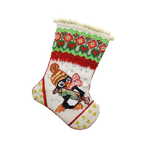 8203 Набор для шитья и вышивания Матренин посад носочек 'Подарок' 19*30см