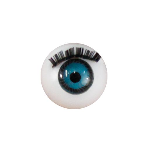 Глаза с ресничками круглые 12мм