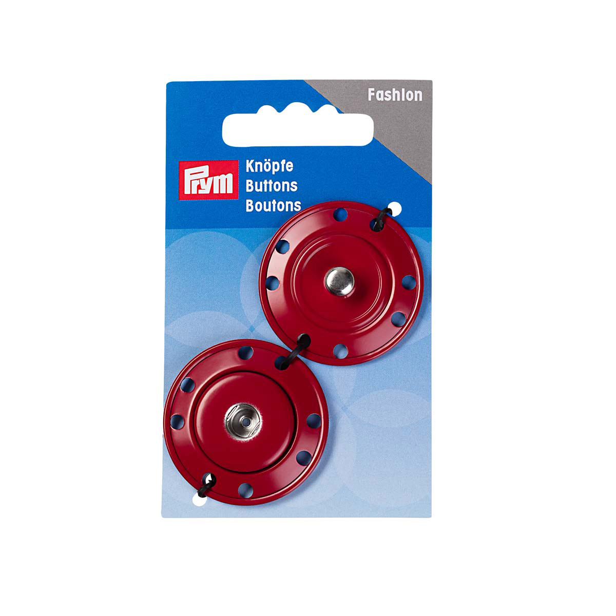 341832 Кнопки пришивные, темно-красный, 25 мм, Prym
