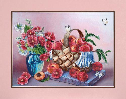 БН-3093 Набор для вышивания бисером Hobby&Pro 'В персиковых тонах', 30*41 см