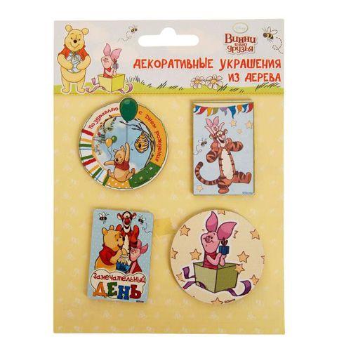 1144997 Набор декоративных элементов 'Замечательный день' Медвежонок Винни 4 шт