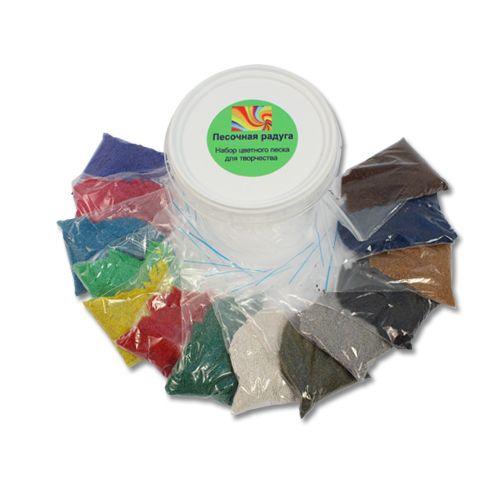 Набор цветного песка в банке 14цв. по 80гр. п0000166