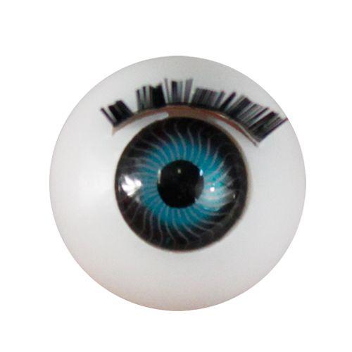 Глаза с ресничками круглые 18мм