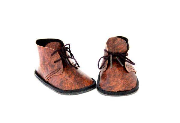 23378 Ботиночки для кукол, 8,5см, пара (коричневые)