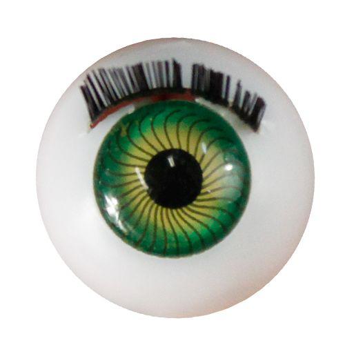 Глаза с ресничками круглые 20мм